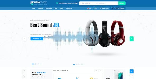 CenaStore - Electronic eCommerce PSD Template