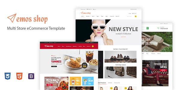 Emos - Electronics Fashion Shop eCommerce HTML Template - Shopping Retail
