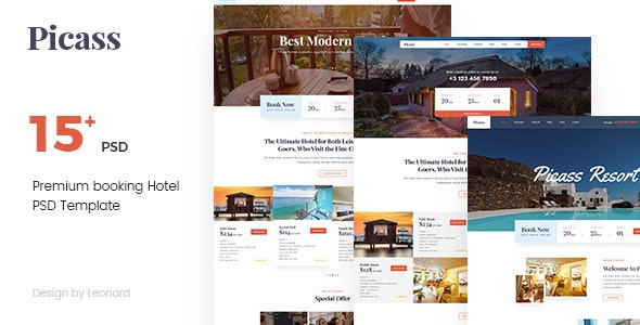 Picass | Hotel PSD Templates - Travel Retail