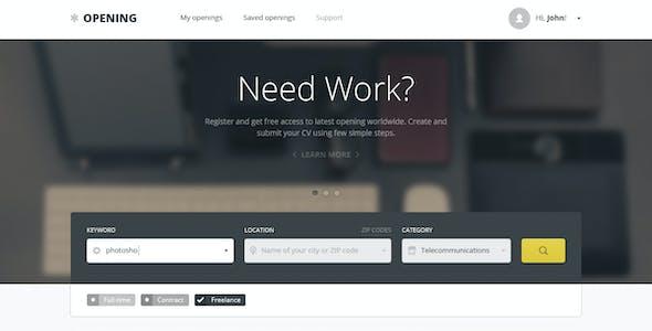 Opening - Job Board HTML Template