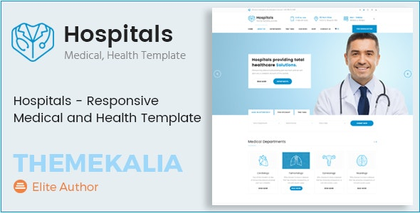 Hospitals - Responsive Medical and Health Template - Health & Beauty Retail