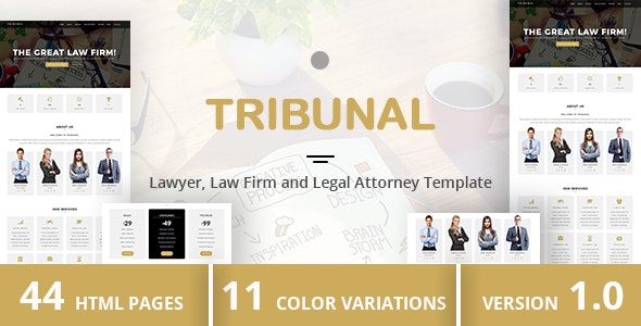 TRIBUNAL - Lawyer, Law Firm and Legal Attorney Template - Business Corporate