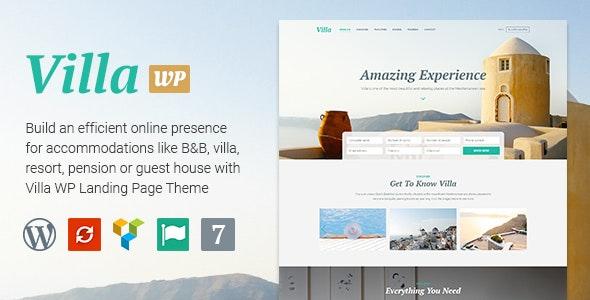Villa - WordPress  Bed & Breakfast Landing Page - Marketing Corporate