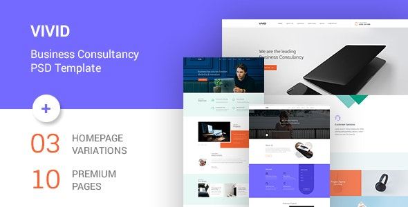 Vivid - Business Consultancy PSD Template - Business Corporate