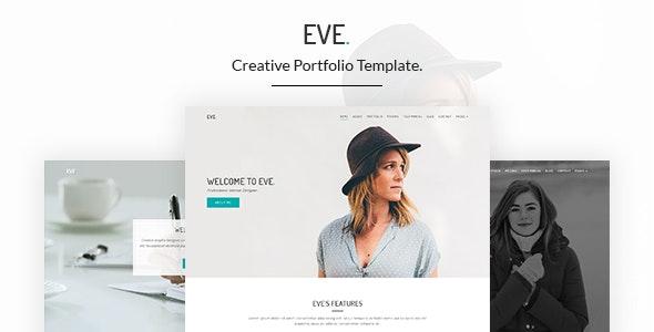 Eve – Creative Portfolio HTML5 Template - Creative Site Templates