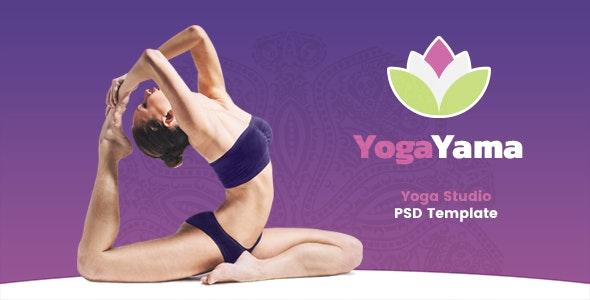 YogaYama - Yoga Studio PSD Template - Health & Beauty Retail