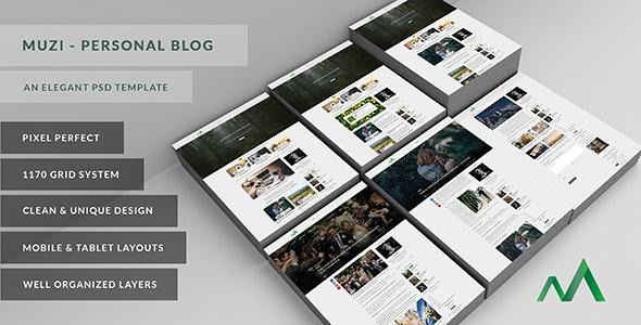Muzi - An Elegant Personal Blog - Personal Photoshop