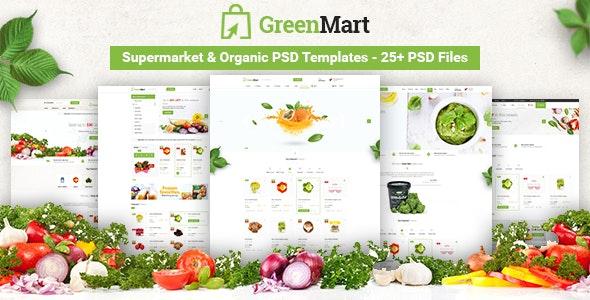 GreenMart - Food & Organic Supermarket PSD Template - Food Retail