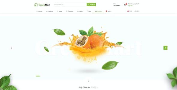 GreenMart - Food & Organic Supermarket PSD Template