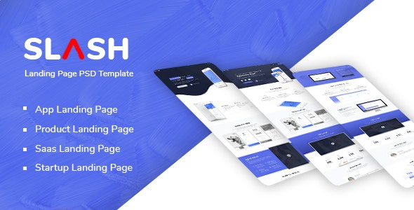 Slash - Multipurpose Landing Page PSD Template - Technology Photoshop