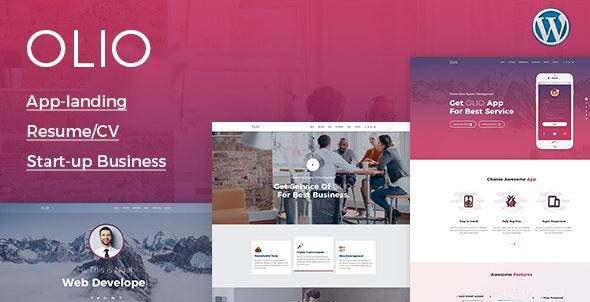 Olio - One Page - Creative WordPress