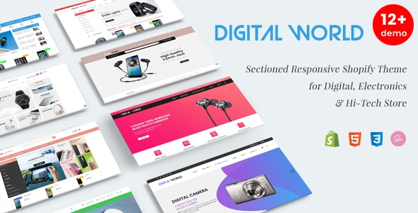 Digital World - Sectioned Responsive Shopify Theme for Electronics & Hi-Tech Store - Technology Shopify