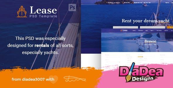 Lease - Boat & Yacht Rentals PSD Template