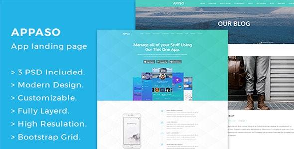Appso Creative App Landing Page - Creative Photoshop