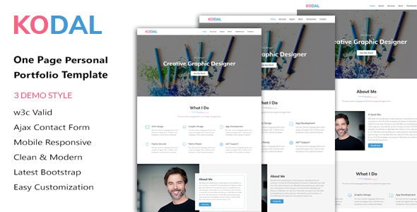 KODAL - Personal Portfolio HTML5 Template - Personal Site Templates