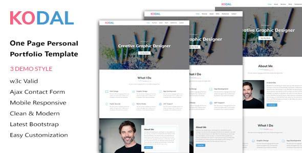 KODAL - Personal Portfolio HTML5 Template