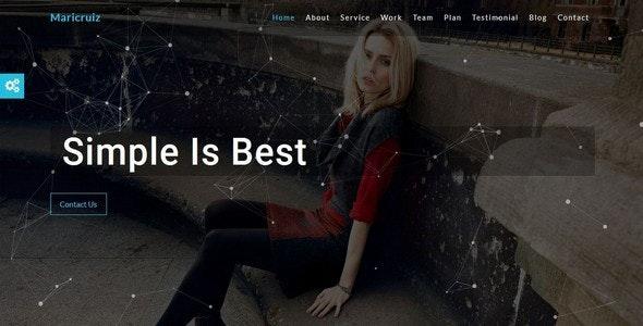 Maricruiz-Multipurpose One Page Template - Creative Site Templates