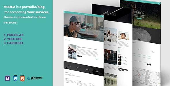 VEDEA - Responsive HTML Template For Portfolio/Blog - Personal Site Templates
