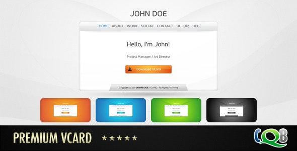Premium vCard - Virtual Business Card Personal