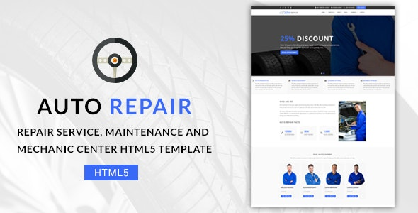 Auto Repair - Maintenance and Mechanic Center HTML5 Template - Business Corporate