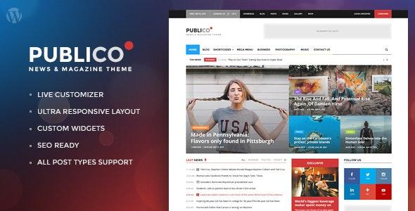 Publico - Modern Magazine WordPress Theme - News / Editorial Blog / Magazine