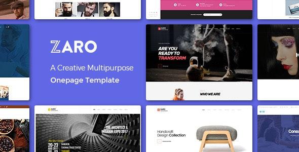 Zaro - Creative Multipurpose Onepage WordPress Theme - Corporate WordPress