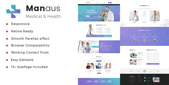 Manaus - Health And Medical HTML Template - Health & Beauty Retail