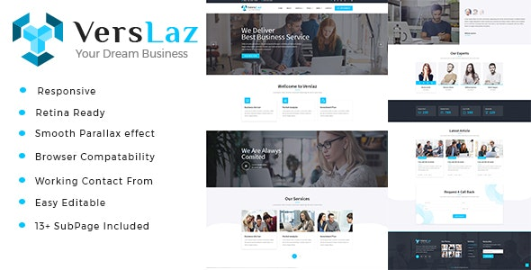 Verslaz - Business Consulting and Professional Services HTML Template - Business Corporate