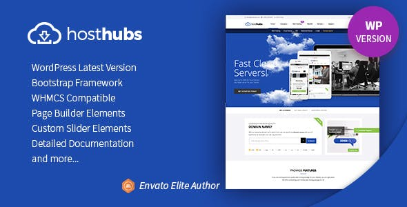 HostHubs   WHMCS Web Domain, Hosting WordPress Theme