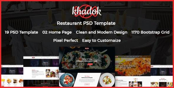 Khadok - Restaurant PSD Template - Restaurants & Cafes Entertainment