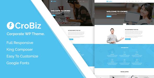 Crobiz - Corporate WordPress Theme - Business Corporate
