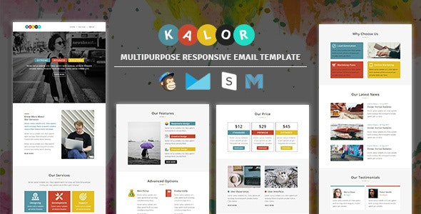 Kalor - Multipurpose Responsive Email Template - Newsletters Email Templates