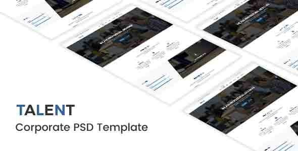 Talent - Corporate PSD Template - Corporate Photoshop