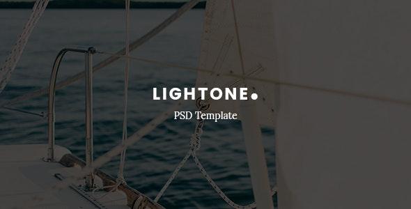 LightOne – Creative One Page PSD Template - Photoshop UI Templates