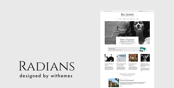 Radians - Modern Magazine/News WordPress Theme