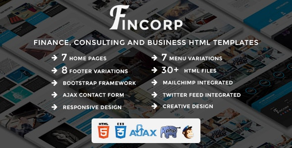 FINCORP - Multipurpose Finance, Consulting and Business HTML Templates - Business Corporate