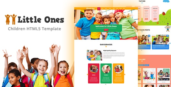 Little Ones - One Page Children/Daycare HTML Template - Children Retail