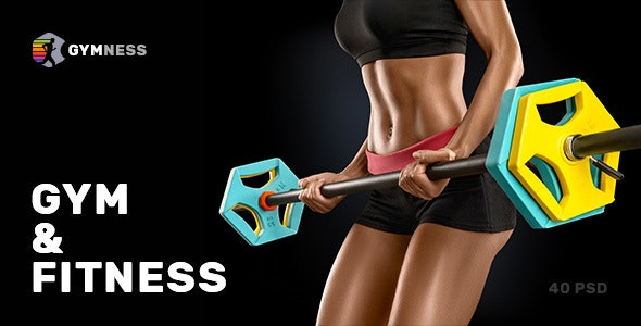 Gymness — Sport, Gym and Fitness PSD Template - Health & Beauty Retail