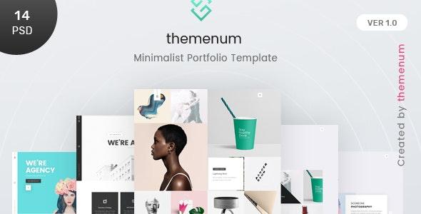 Themenum - A Clean & Creative Minimal Portfolio & Agency PSD Template - Portfolio Creative