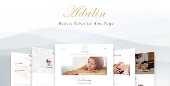 Adalin - Beauty Salon Landing Page