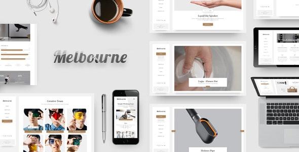 Melbourne - Minimal HTML Template - Portfolio Creative