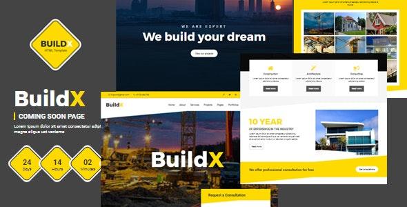 Buildx - Construction HTML Template - Corporate Site Templates