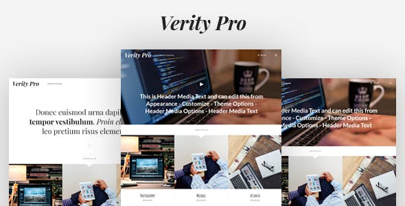 Verity Pro: Portfolio and Blog WordPress Theme