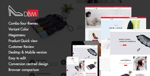 Dbm - Responsive Shopify Theme (Sections Ready) - Shopify eCommerce