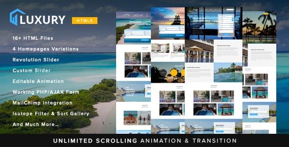 Luxury Interactive Hotel Template - Travel Retail