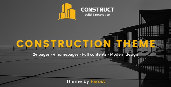 Construct - Construction PSD Template - Business Corporate
