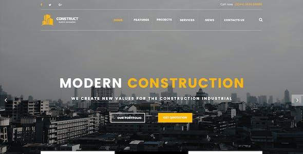 Construct - Construction PSD Template