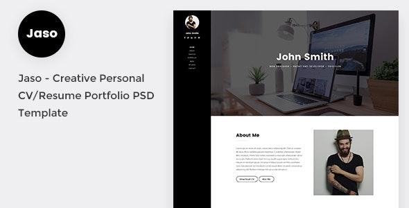 Jaso - Creative Personal CV/Resume Portfolio PSD Template - Portfolio Creative