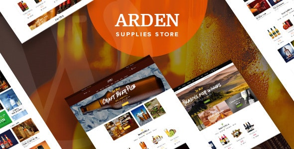 Arden - Modern Brewery & Pub WordPress Theme - WooCommerce eCommerce