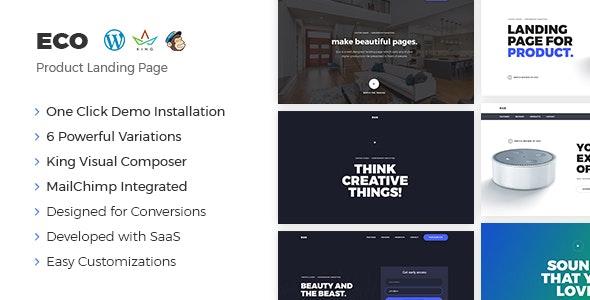 Eco - WordPress Product Landing Page - Marketing Corporate